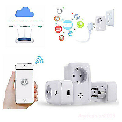 Control remoto inalámbrico WiFi Smart Power enchufe de zócalo para Smartphone
