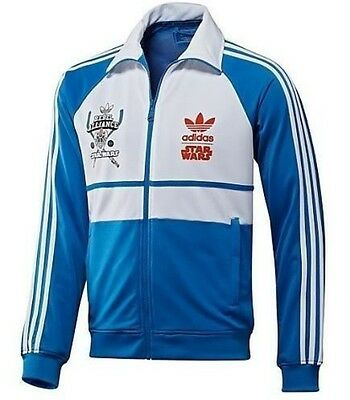 Adidas Star Wars Luke Sky Walker Blue Track Top Jacket M L Xl