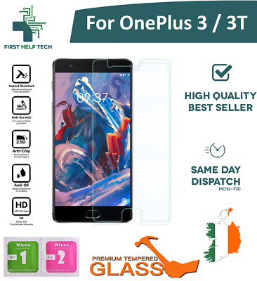For OnePlus 3 3T 1+3 1+3T Premium Tempered Glass Screen Protector Cover Guard