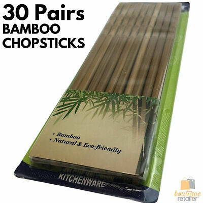 30 Pairs BAMBOO CHOPSTICKS Wooden Wood Asian Wedding Dinner Gift Carbonised BULK