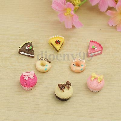 8pcs 1/12 Dollhouse Miniature Kitchen Food Cakes Creative Kids Play Set New