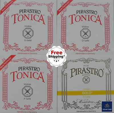 Pirastro Tonica New Formula+Gold  Label Violin Strings. Two Best Sellers in One