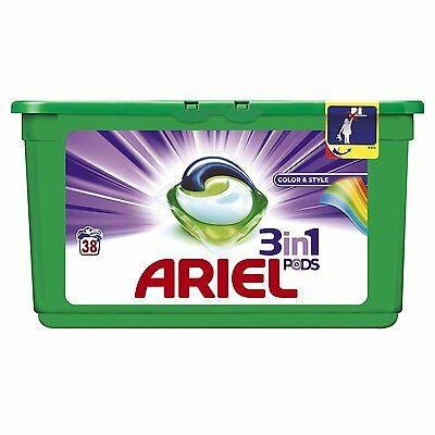 Ariel 3 in 1 Colour Washing Capsules, 114 Washes- Pack of 3