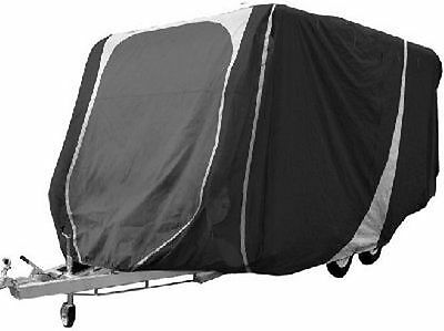 Streetwize 21 to 23ft Breathable Caravan Cover 3 Ply Grey / Charcoal