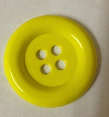 Yellow 42mm Plastic Buttons - Australian Supplier