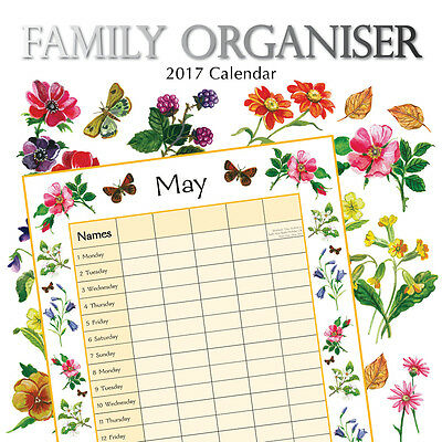 Beauty of Nature Family Organiser 2017 Square Wall Calendar