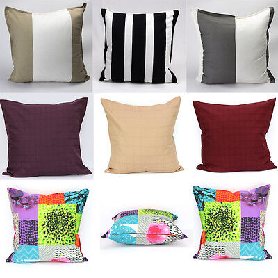 Home Sofa Bed Car Square 3D Decorative Stripes Throw Pillow Case Cushion Covers