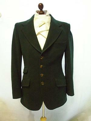 "*vintage Harry Hall Green Woolen Cambridge University Drag Hunt Jacket Size 38""*"