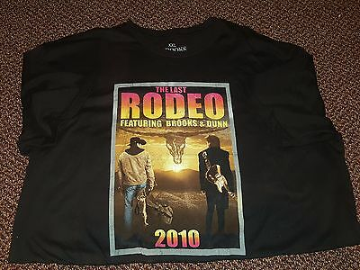 "Brooks & Dunn ""The Last Rodeo"" 2010 Tour 2 Sided T-shirt Mens XXL 2X 100% Cotton"