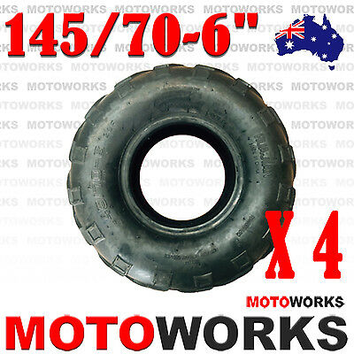 "4 x 145/70 - 6"" inch Front Rear Tyre Tire Kids 110cc Quad Bike ATV Buggy Go kart"