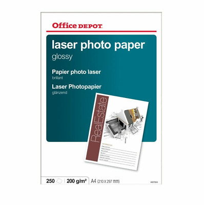 Office Depot Everyday Laser Gloss Photo Paper, A4, 210Gsm - 250 Sheets