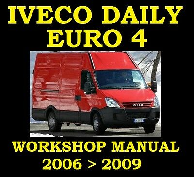 IVECO DAILY VAN 2006 To 2009 SERVICE WORKSHOP REPAIR MANUAL ENGINE GEARBOX PARTS