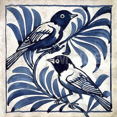 Metric Porcelain Tiles William De Morgan Weaver Birds Walls Floor Kitchen Bath
