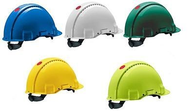 3M Peltor G3000 Safety Helmet Vented Uvicator UV-Stabilized ABS Head Protection