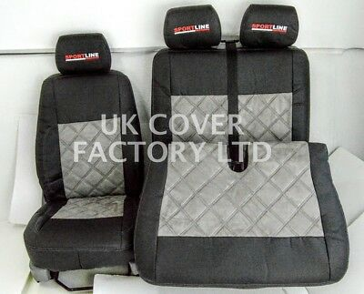 Vw Transporter T5 Van Seat Covers Alcantara  Bentley X160Gybk-Gy