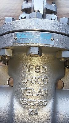 "Velan 4"" 300# Flanged Stainless Steel Gate Valve CF8M 316 Fig.# F12-1064C-13SX"