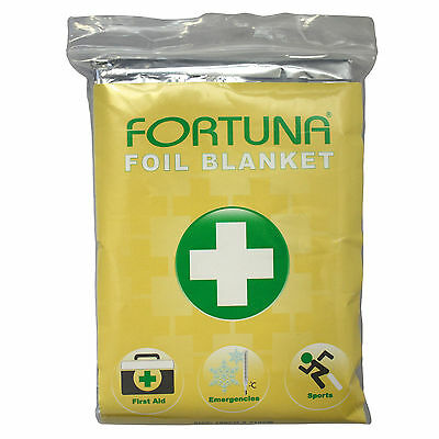 Job Lot of 500 New Fortuna Foil Blanket  Essential First Aid Kit. FT- 1619