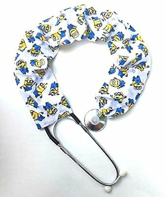 Stethoscope Covers Handmade Variety Patterns 100% Cotton White Minion Bello