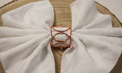 Crown Jewel Metal Napkin Rings Gold / Silver Xmas Dinner Event Wedding Pack Of 6
