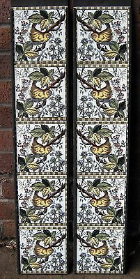 Victorian Style Bird Fireplace Tile Set (2 X 5 Tile Panels) Ref 2