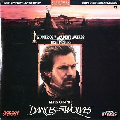 DANCES WITH WOLVES WS CC NTSC LASERDISC Kevin Costner, Mary McDonnell
