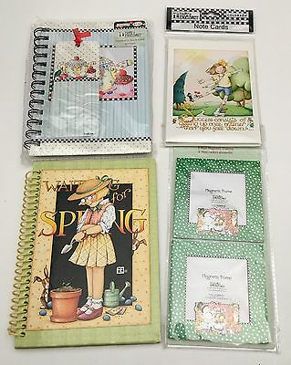 Mixed Lot of Mary Engelbreit Stationary Cards Notebooks & Magnetic Frames