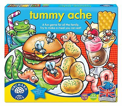 Orchard Toys Tummy Ache Kids Educational Card Family Board Game Toys NEW