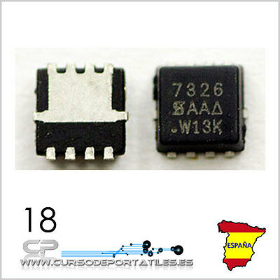 2 Unidades SI7326, MOSFET 7326 MOSFET CANAL-N