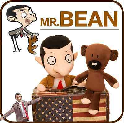hot Mr Bean And Bear Soft Stuffed Plush Toys Dolls Kid/girl friend Size 30/cm
