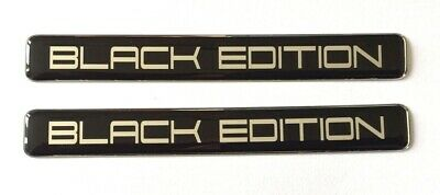 2 x BLACK EDITION Stickers/Decals - HIGH GLOSS DOMED GEL FINISH