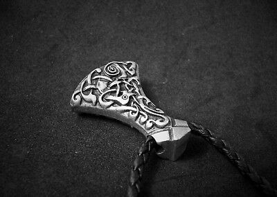 Men's Viking Axe Pendant, Large Mammen Axe with Celtic Knot Designs. NEW.