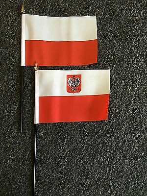 Polish Eagle Table / Hand Flag Polska Polski Warsaw Catholic Poland Football EU