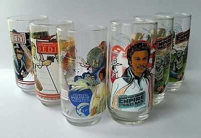 Star Wars Burger King Collector Glasses Lot x6