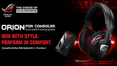 Asus Orion for Consoles Gaming Headset Cross Platform Noise Cancelling ROG