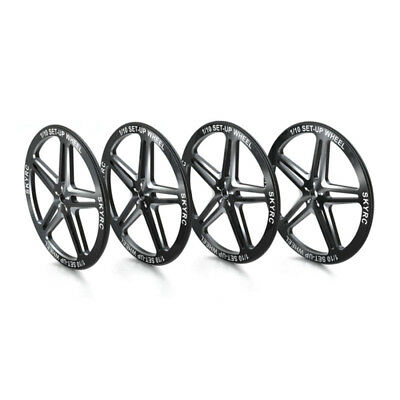 SkyRC Setup Wheels For 1/10 RC Touring Car, Buggy, CNC Aluminum With Rubber Ring