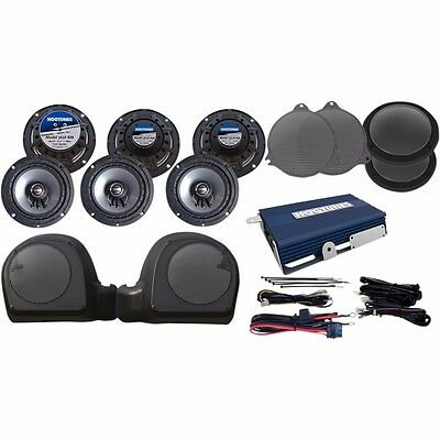 Hogtunes LIMITED-RM Complete Speaker And Amp Kit For Harley 2014 15 16 17 Gen 3