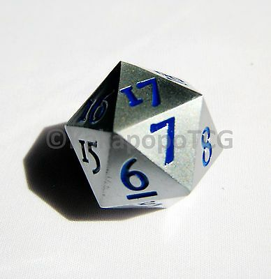 Solid Metal Silver D20 Countdown Dice 20 face Count Down 20 faced Counter