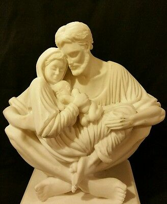 A Quiet Moment Sculpture Of The Holy Family  By Timothy P. Schmaltz White Statue