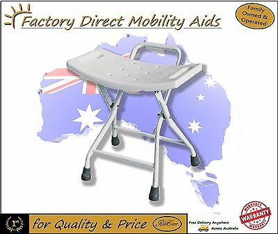 Folding Steel Shower stool / Chair with Handle Easy Transport NEW