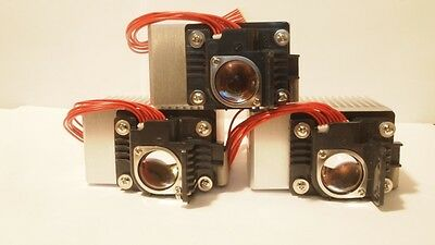 3 Phlatlight  PT39-TE  PT-39-RA-L21 800 Lumen Orange 615nm LED W/Heatsink-Optics
