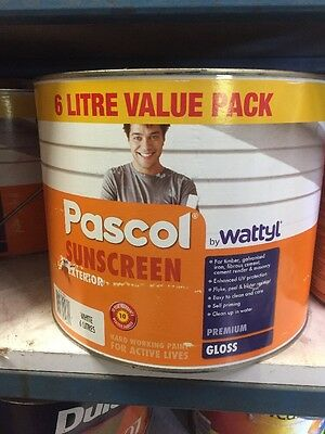 Pascol By Wattyl Sunscreen Exterior Paint White 6L