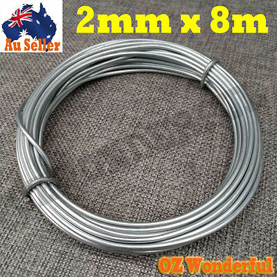 DIY Galvanised Wire 2mm Reel 8M Each Long Reels Metal Rope Home Garden Tools