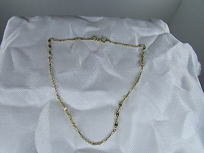 Solid 14K Yellow Gold Anklet 9.5""
