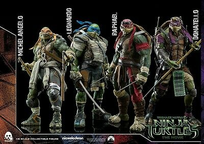 TMNT (2014 Movie) 1/6TH SCALE FIGURES BY THREE ZERO (SET OF FOUR).