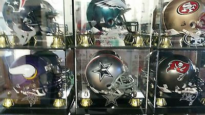 Nfl Mini/full Sized Helmets .  Also Some With Matching Mi Acrylic Display Cases.