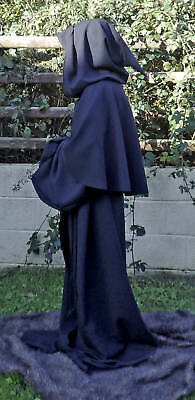 Black Robe for Halloween Grim Reaper/Monk/Larp/Cosplay sizes small to  XXXL