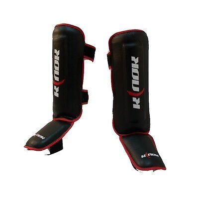 Shin with protection of the foot Lantern SHINGUARD BLACK Martial Sport art.KN0