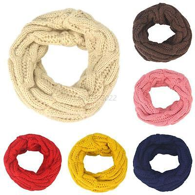 Cute Baby Boy Girl Winter Knit Neck Warmer Round Scarf Wrap Neckerchief Scarves
