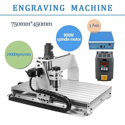 3 Axis Cnc Router Engraver Milling Machine 6040 Desk Top Engraving Drilling