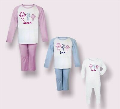 Personalised Embroidered 100% Cotton Pyjamas,  Great Christmas Present/Gift